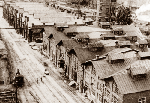 Мытищи и окрестности (Кинохроника и галерея старых фото) Корпуса литейных мастерских нач 20 века