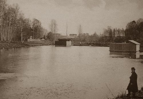 Мытищи и окрестности (Кинохроника и галерея старых фото) Челноковский пруд нач 20 века