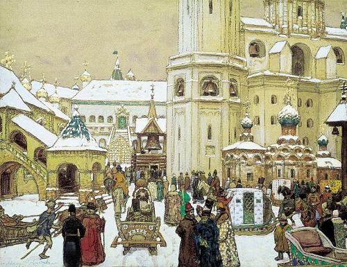 Москва 1908 год. Ивановская площадь Кремля и Царь-колокол. Старая кинохроника