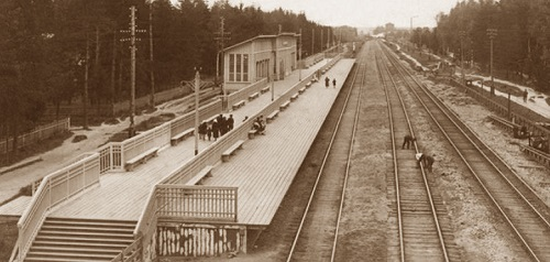 Мытищи и окрестности (Кинохроника и галерея старых фото) Станция Тайнинская нач 20 века