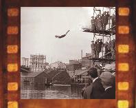 Бородинский мост в кинохронике