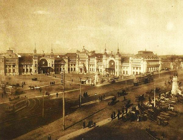 Белорусский вокзал история 1927-1928 г. и кадры кинохроники.