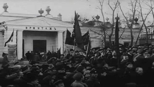 "Каретный ряд. Сад ""Эрмитаж"". Кинохроника 1918 года. Кадр"