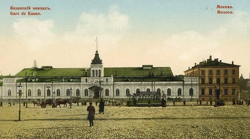 Казанский вокзал. Площадь трех вокзалов в Москве. Кинохроника 1918 и 1927