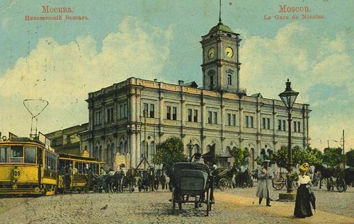 Площадь трех вокзалов в Москве. Кинохроника 1918 и 1927