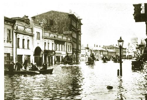 Наводнение в Москве 1908 г. фото. Старая кинохроника.