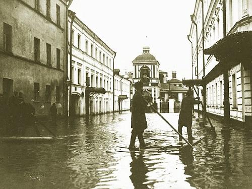 Наводнение в Москве 1908 г. фото. Старая кинохроника события
