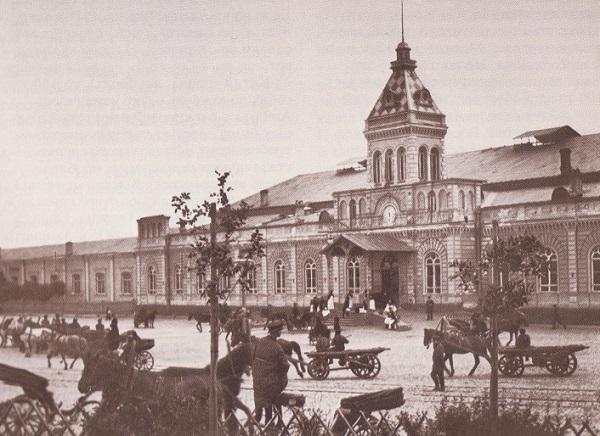 Рязанский вокзал. Площадь трех вокзалов в Москве. Кинохроника 1918 и 1927 гг.