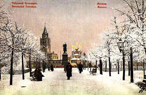 Памятник Пушкину на Тверском бульвареТверской бульвар фото, история, а также видео 1922 и 1927 годов.