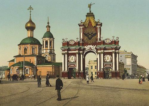 Красные ворота видео 1927 году. История. Красные ворота старые фото.