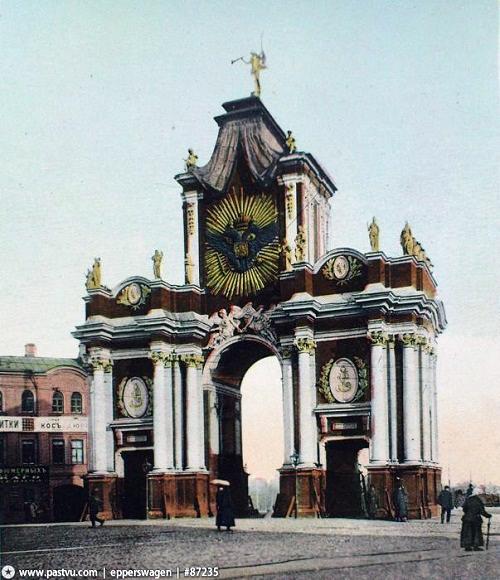 красные ворота 1906. Красные ворота видео 1927 году. История. Красные ворота фото.