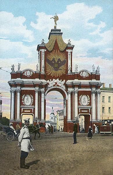 красные ворота перед революцией. Красные ворота видео 1927 году. История. Красные ворота фото.