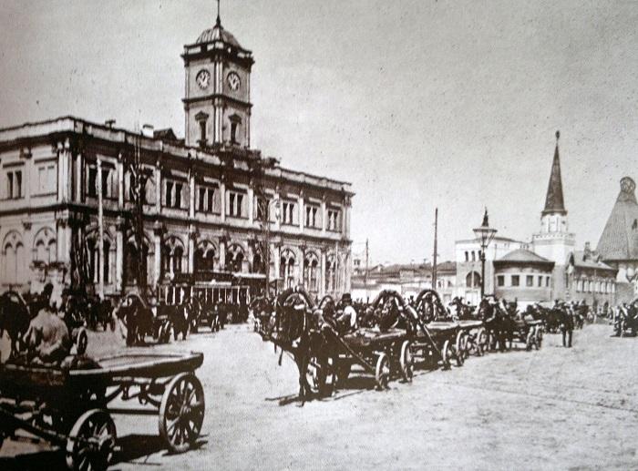 Комсомольская. Площадь трех вокзалов в Москве. Кинохроника 1918 и 1927 гг.