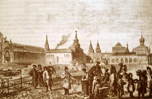 Торг у Кремля. Китай-город видео 20-х годов XX века. История.