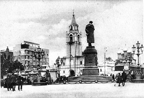 Памятник Пушкину.Памятник Тимирязеву и памятник Пушкину на Тверском бульваре