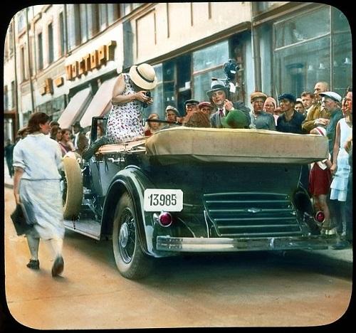 ЦУМ видео 20-х годов XX века. История и фото. Театральная площадь - Петровка.