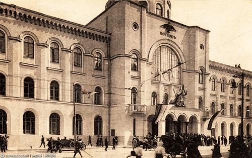 Московский почтамт Мясницкая (видео 1927 г.) фото