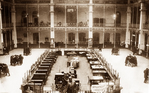 Почтамт в 1924. Московский почтамт Мясницкая (видео 1927 г.)