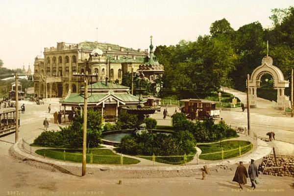 1911 год. Киев. Крещатик. Кинохроника
