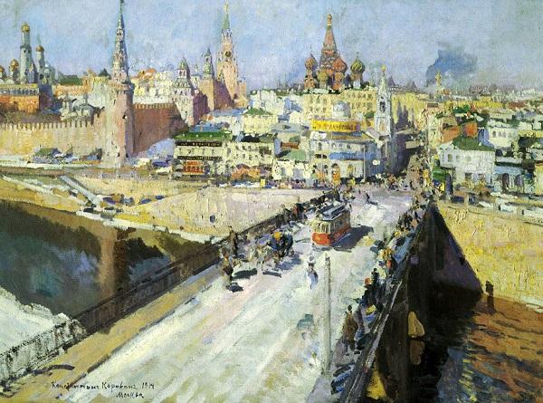 Константин Алексеевич Коровин (1861–1939). Москворецкий мост. 1914 г