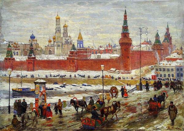 Константин Фёдорович Юон (1875–1958). Старая Москва.