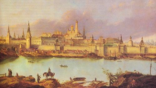 Москва-река близ Кремля 1707г. Прогулка по Москва-реке в 20-х годах XX века. Кинохроника смотреть онлайн.