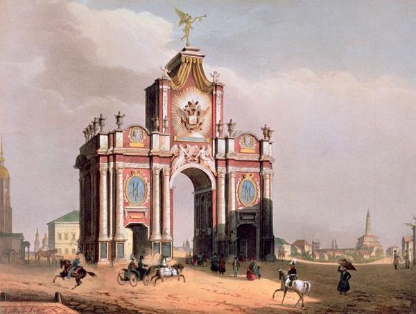 Луи Жюль Арну (1814–1868). Вид Красных ворот. Красные ворота видео 1927 году. История. Красные ворота фото.