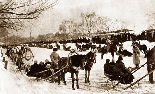 Масленица на Девичьем поле. Девичье поле в Москве (видео 1918 г.). Новодевичий монастырь фото.