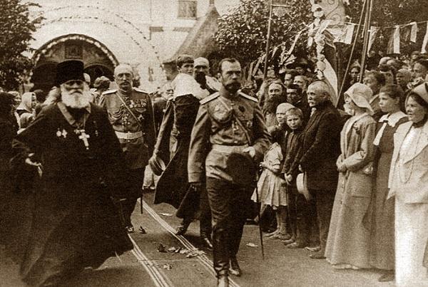 Николай 2 в Евпатории 1916 кинохроника