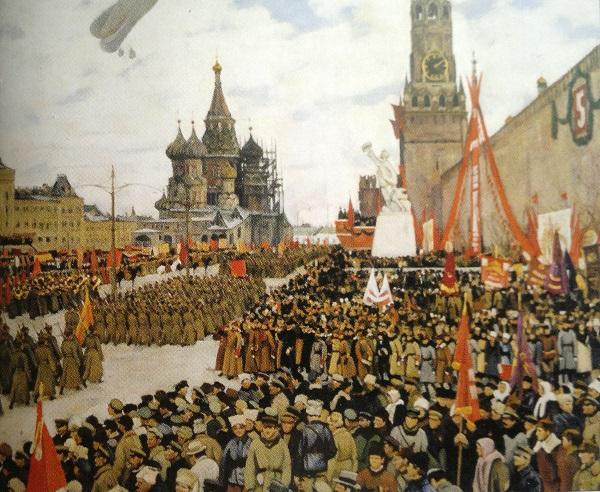 Парад на Красной площади. 1 мая 1922 года.