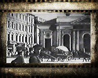Страстная площадь в 1922 г. Показ фильмов и фотографий москвичам.