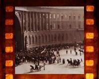 Дворцовая площадь в кинохронике 1914 года