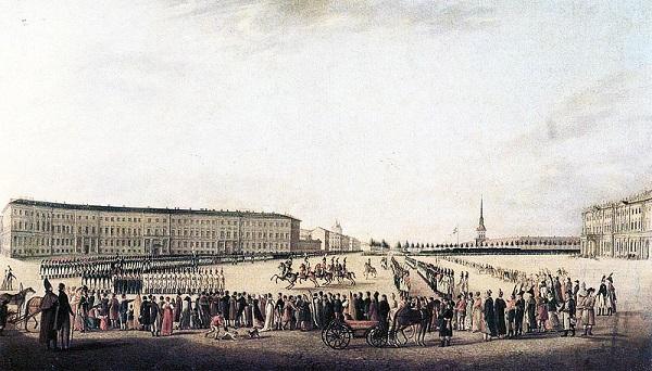 Санкт-Петербург. Дворцовая площадь 18 век