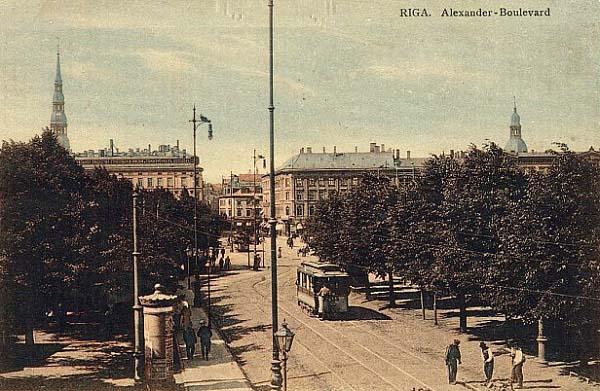 Рига. Александровский бульвар. 1910