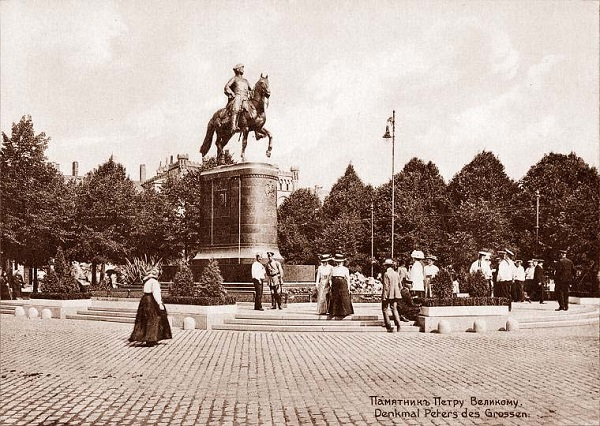 Памятник Петру I в Риге. 1910