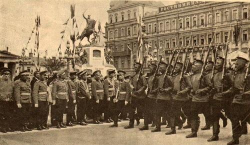 Открытие памятника Скобелеву М.Д. в 1912 г. Церемониальный марш