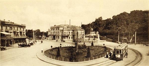 Крещатик. Европейская площадь. 1911 год Кинохроника
