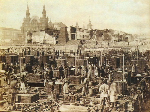 ГУМ Москва фото и видео. Красная площадь. Кинохроника 1923 года.