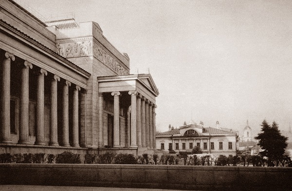 Улица Волхонка. Москва. 1919 год. История фото видео кинохроника