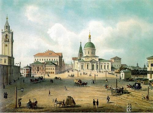 Страстная площадь в 19 веке