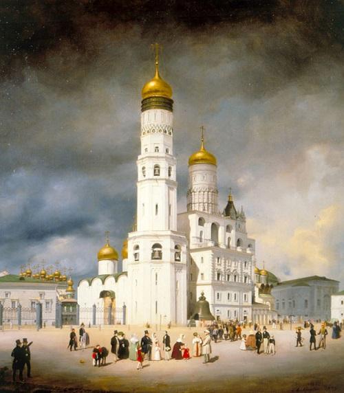 Москва 1908 год. Ивановская площадь Кремля и Царь-колокол. Старые кинохроники.