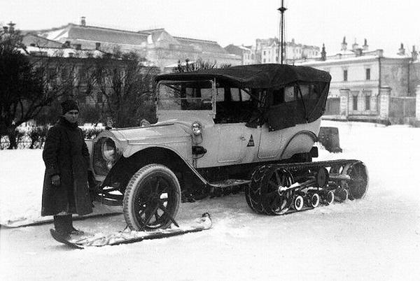 Улица Волхонка. Москва. 1919 год.