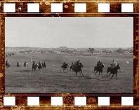 Атака кавалерии. Военные маневры. 1918 год Кинохроника прошлых лет
