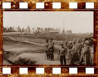 г. Орша. Возвращение беженцев на оккупированные немцами территории. Вокзал в Орше. 1918 год.