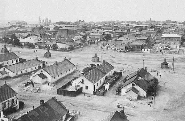Шахтерский поселок в Юзовке. Донбасс. 1912 г. История Новороссии.