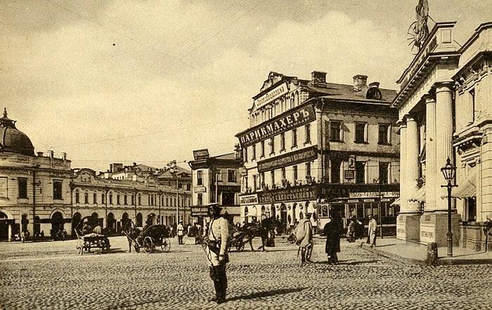 Арбатская площадь в середине 20-х годов XX века. Старое видео Москвы.