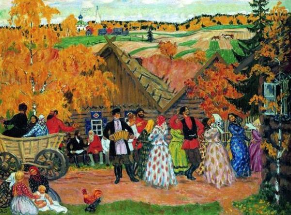 Кустодиев Русские народные танцы