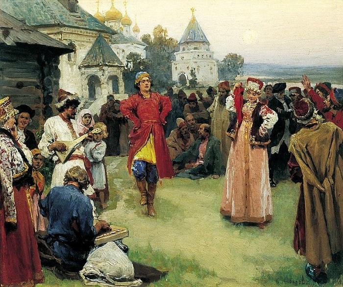 Танцы на Руси К.Лебедев