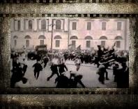 Петроград. Разгон большевиков 1917 год. Кинохроника. Видео.