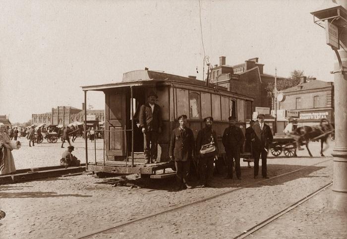 Трамвайный диспетчерский пункт на Рогожской заставе. 1924-25 гг.